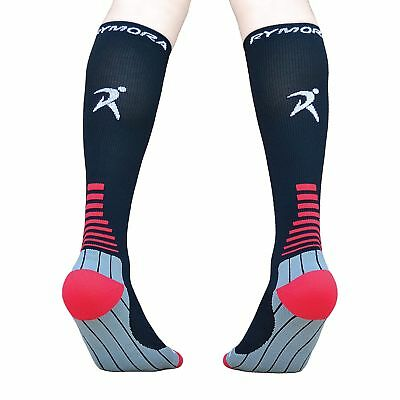 Compression Socks (Cushioned Graduated Compression Ergonomic fit for Men and ...