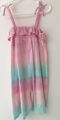 Matalan Girls Pink & Blue Wide Leg Playsuit - Age 6 Years - Worn Once