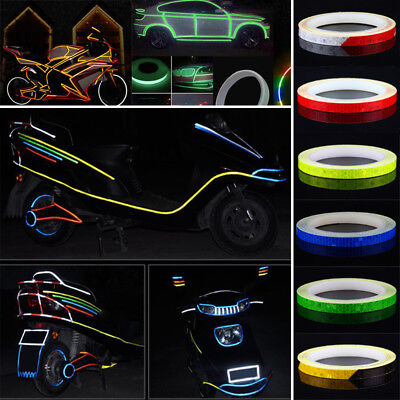 Wheel Reflective Sticker Rim Luminous Warning Tape DIY for Bike Car Motorcycle