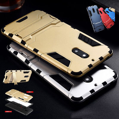 Shockproof Rugged Heavy Duty Armor Hybrid Hard Stand Case Cover For Nokia 5 6 8