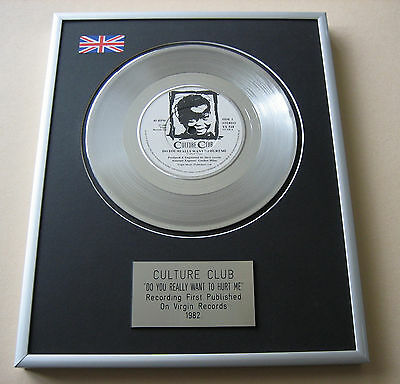 Boy George CULTURE CLUB Do You Really Want To Me PLATINUM DISC PRESENTATION