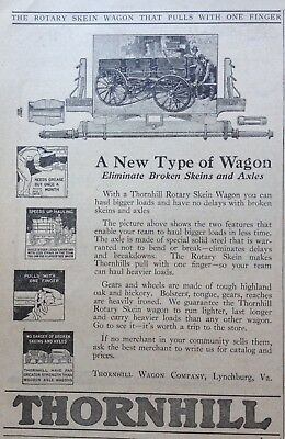 1923 Ad(Xa26)~Thornhill Wagon Co. Lynchburg, Va. Rotary Skein Wagon