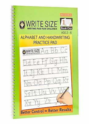 Write Size Alphabet & Handwriting Practice Pad - Book 1
