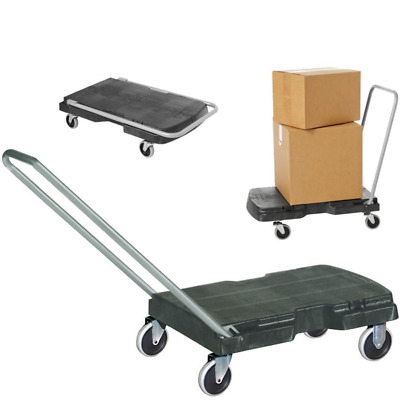 Rubbermaid Commercial Folding Platform Cart Dolly Push Hand Truck Utility Cart