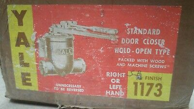 Vintage Yale Door Closer In Box Old Stock 1173 Series Sb Right Or Left Hand