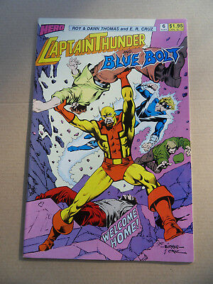 Captain Thunder And The Blue Bolt 6 .1st Wicket .Hero Comics 1988 .VF - minus