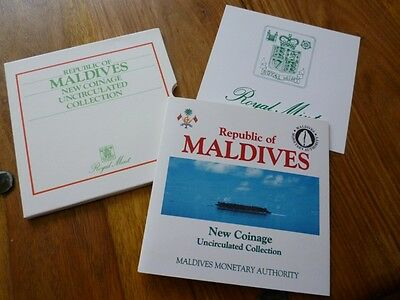 1984 Royal Mint Republic Of The Maldives 6 Coin Uncirculated Coin Collection.