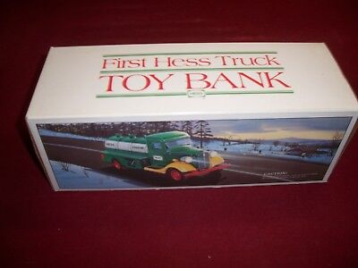 1985 The First  Hess Toy Truck Bank  Mint In A Mint Box