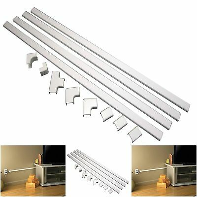 TV Cord Cover Storage Kit Wire Wall Mount Hider Home Tool Hide Tunnel White NEW