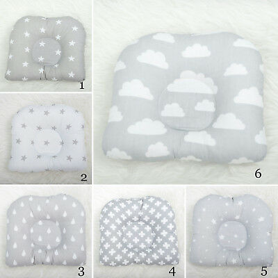 Baby Pillow Infant Soft Cotton Pillow Anti Roll Prevent Flat Head Support Neck