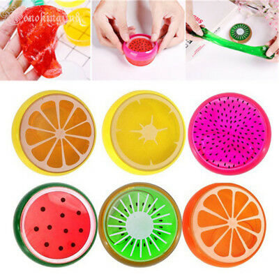 Creative Fruit Crystal Clay Putty Jelly Slime Plasticine Mud Educational Toy MN