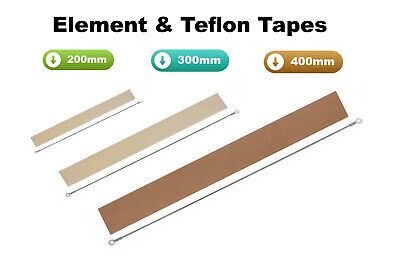 Impulse Heat Sealer Element,Teflon Strip Spare Kit Fs 200Mm 300Mm 400Mm 650Mm