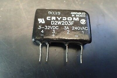 Crydom D2W203F Solid State Relay: 240VAC, 3A, NEW!