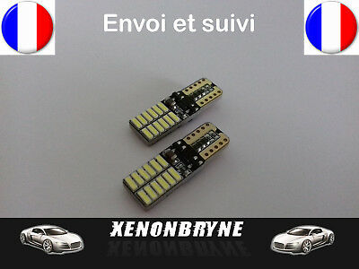 2 Ampoules Led T10 W5W 24 SMD Canbus Anti erreur Ultra Puissant