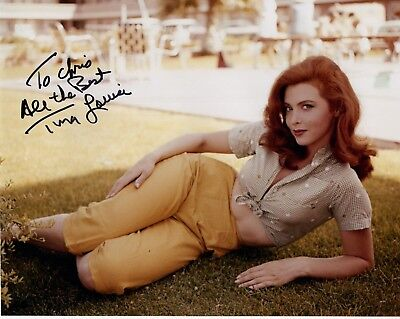TINA LOUISE AUTHENTIC SIGNED 8x10 COLOR PHOTO        YOUNG+GORGEOUS     TO CHRIS