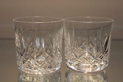 """Pair (2) Waterford Crystal Lismore 3 1/4"""" 9 Ounce Old Fashion Fashioned Tumbler"""