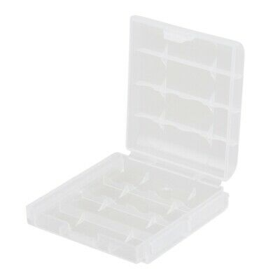 5x Clear Plastic Battery Box Storage Case Cover Holder For AA AAA Batteries P3M9