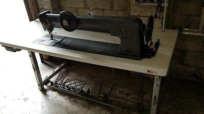 "Singer 144A305 30"" Long Arm Walking Foot Industrial Sewing Machine, Leather,"