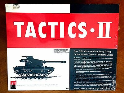 Tactics II 2 Avalon Hill Game #502 NEW in SHRINK Vintage Board game MUST SEE