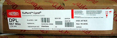 "DUPONT CYREL DPL 67 Digital Plates 42x60 10 Sealed Flexographic .067"" plates"