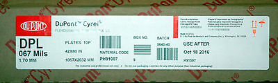 "DUPONT CYREL DPL 67 Digital Plates 42x80 10 Sealed Flexographic .067"" plates"