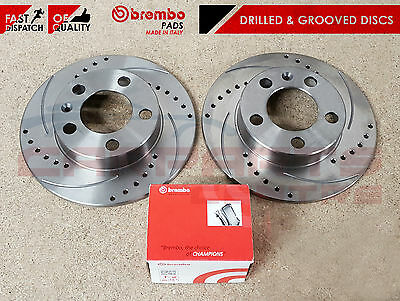 Ford Focus Rs Rs500 Mk2 Rear Drilled And Grooved Brake Discs Brembo Brake Pads