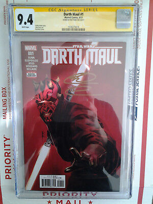 Star Wars Darth Maul #1 Cgc Ss 9.4 Signed By Ray Park