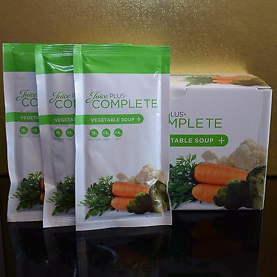 Juice Plus Vegetable Soup Complete 15 x Sachets Meal Replacement Full Box