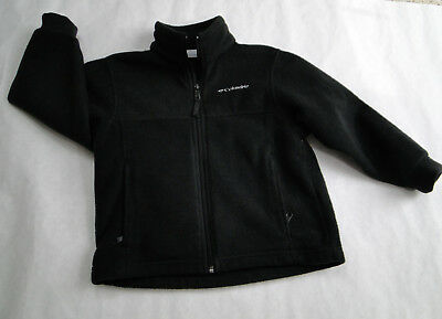 Columbia Fleece Black Jacket Full Zip Kids Youth Size  6/7