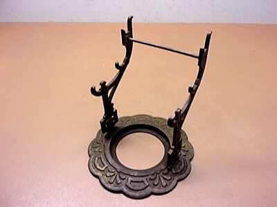 Antique Cast Iron Victorian Ornate Inkwell Holder & 3 Tier Ink Pen Holder NICE!