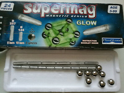 Supermag ~ Magnetic Genius ~ Glow ~ 24 Teile ~ Magnet / Magnetspielzeug