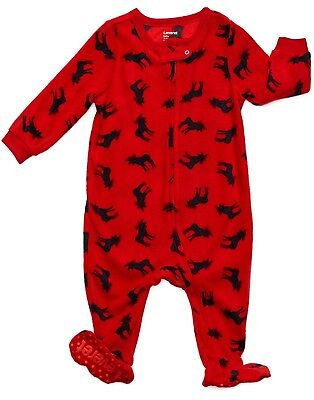 Leveret Boys Girls Footed Fleece Christmas Children Pajama (Size 6M-5 Years)