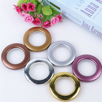 10/40X Round Shape Eyelet Curtain Rings Clips Grommet Blinds Drapery Accessories