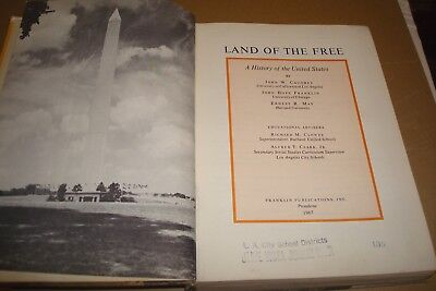 Vtg Land of the Free A history of the United States book 1967 History TextBook