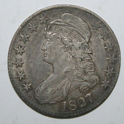 1827  Capped  Bust Silver Half F39