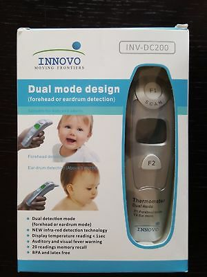 NEW! Innovo Medical Forehead and Ear Thermometer INV-DC200