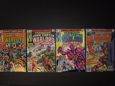 John Carter Warlord of Mars, Edgar Rice Burroughs', #26,#27,#28,#3 Annual, 1979