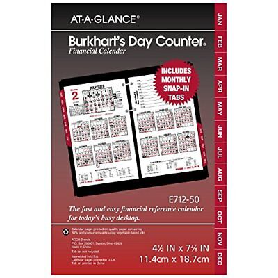 "AT-A-GLANCE Daily Desk Calendar Refill January 2018 - December 2018 4-1/2"" x ..."