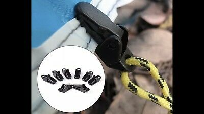 8pc Awning Clamp Tarp Clips Snap Hangers Tent Camping Survival Emergency Blanket