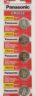 Panasonic CR2032 2032 ECR2032 3V Genuine Button Coin Cell Battery 5 Pieces