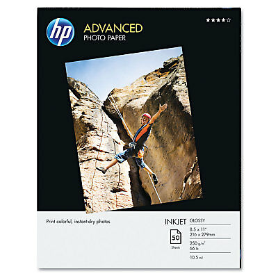 HP Advanced Photo Paper 56 lbs. Glossy 8-1/2 x 11 50 Sheets/Pack Q7853A