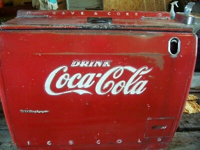 Chest Type Coca Cola Machine Orginal Paint
