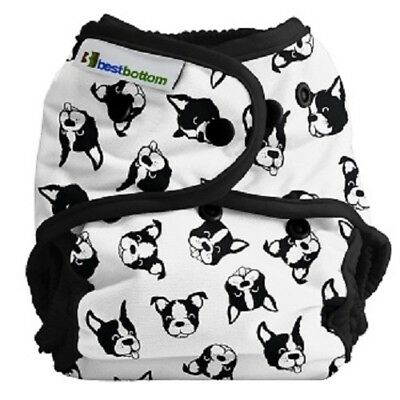 NIP Best Bottom One Size Cloth Diaper - BestBottom Snap - Boston Terrier - Woof