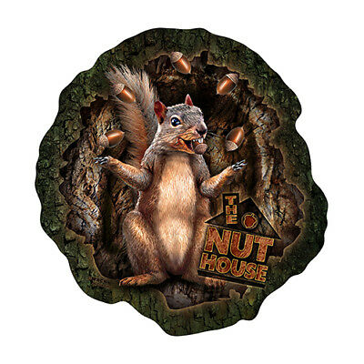 """The Nut House Squirrel [3 Pack] of Vinyl Decal Stickers 5"""" 