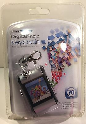 "Digital Photo Keychain 1.5"" Color Lcd Display Rechargeable Usb Up To 70 Photos"