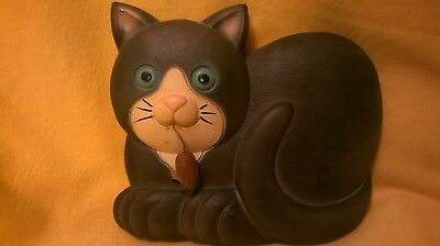 Cat Holding Mouse Wall Plaque