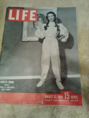 Life Magazine August 12, 1946 Loretta Young ***Additional Items Ship Free***