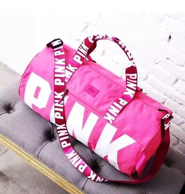 Victoria's Secret Love Pink Duffel / Gym Bag - Pink - Free Shipping