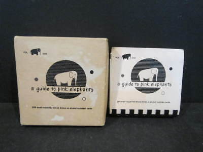 1952 VTG A GUIDE TO PINK ELEPHANTS Alcohol Drink Recipe Cards Book Barware