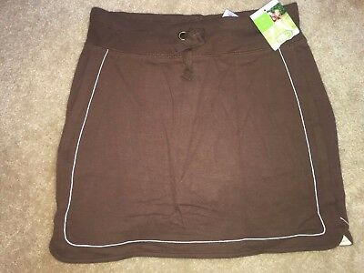 Girls New Nwt Size Xl Extra Large 14/16 Brown Skort Skirt With Shorts Athletic W